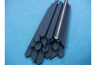 Stoel armleggers bekleden met meubelleer zwart