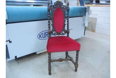velours stof stofferen voor antieke meubelen met wijn rode velours stof