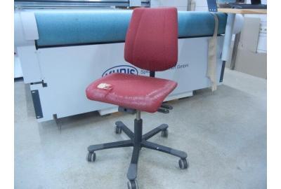 HAG Bureauxstoel stofferen met goedkoop meubelleer- leer kopen - Zwart