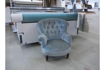Keymer stoffen kopen voor stoffering fauteuil