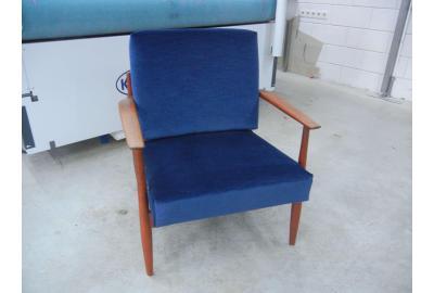 Opnieuw Gestoffeerde fauteuiltje Meubelstof Velours