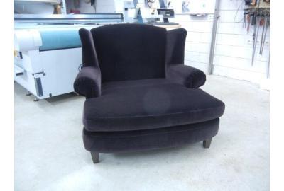 Love Seat stofferen met Velours meubelstof{fen}