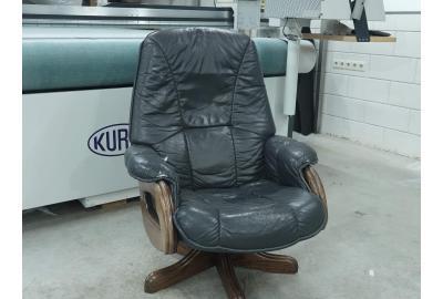 skai leer vervangen door echt meubelleer bekleden relaxstoel